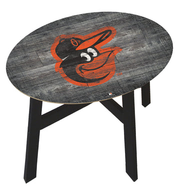 Baltimore Orioles Distressed Logo Wood Side Table