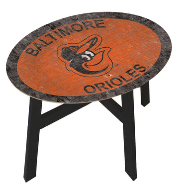 Baltimore Orioles Team Color Wood Side Table