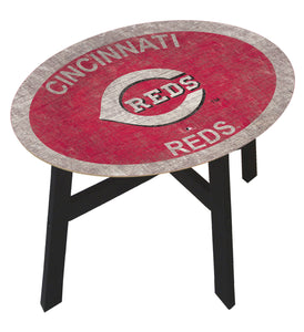 Cincinnati Reds Team Color Wood Side Table