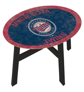Minnesota Twins Team Color Wood Side Table
