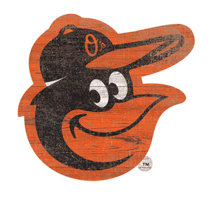 Baltimore Orioles Distressed Logo Cutout Sign