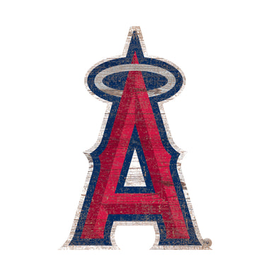 Los Angeles Angels Distressed Logo Cutout Sign