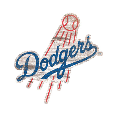Los Angeles Dodgers Distressed Logo Cutout Sign