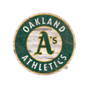 Oakland Athletics Distressed Logo Cutout Sign