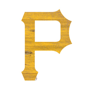 Pittsburgh Pirates Distressed Logo Cutout Sign