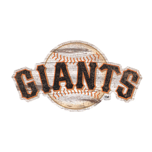 San Francisco Giants Distressed Logo Cutout Sign