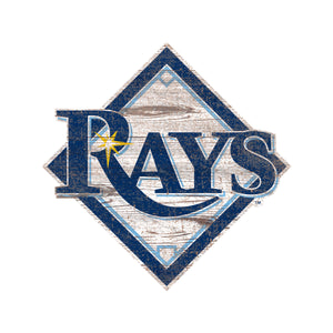 Tampa Bay Rays Distressed Logo Cutout Sign