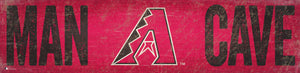 "Arizona Diamondbacks Man Cave Sign - 6""x24"""