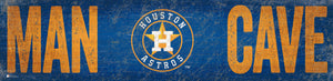 "Houston Astros Man Cave Sign - 6""x24"""