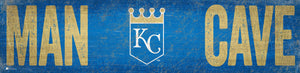 "Kansas City Royals Man Cave Sign - 6""x24"""