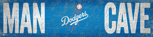 "Los Angeles Dodgers Man Cave Sign - 6""x24"""
