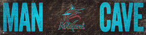 "Miami Marlins Man Cave Sign - 6""x24"""