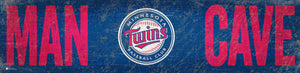 "Minnesota Twins Man Cave Sign - 6""x24"""