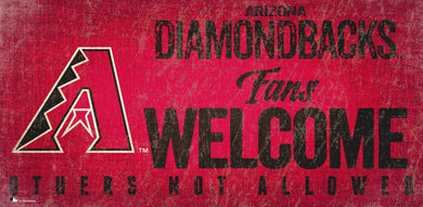 Arizona Diamondbacks Fans Welcome Wood Sign