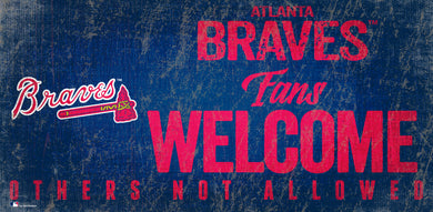 Atlanta Braves Fans Welcome Wood Sign