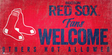 Boston Red Sox Fans Welcome Wood Sign - 12