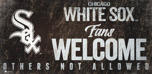 Chicago White Sox Fans Welcome Wood Sign