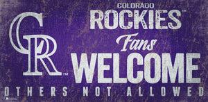 "Colorado Rockies Fans Welcome Wood Sign - 12"" x 6"""