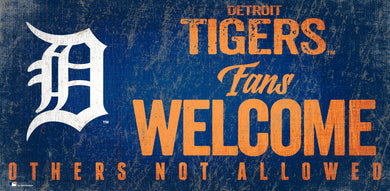 Detroit Tigers Fans Welcome Wood Sign