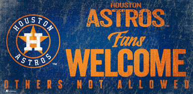 Houston Astros Fans Welcome Wood Sign