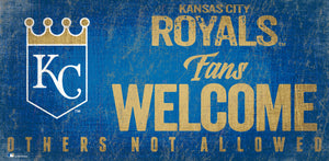 Kansas City Royals Fans Welcome Wood Sign
