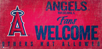 Los Angeles Angels Fans Welcome Wood Sign