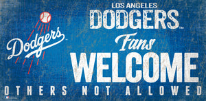 "Los Angeles Dodgers Fans Welcome Wood Sign - 12"" x 6"""