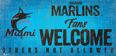 Miami Marlins Fans Welcome Wood Sign