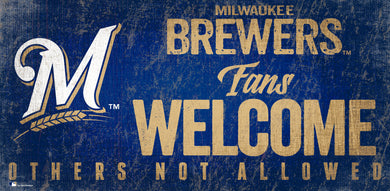 Milwaukee Brewers Fans Welcome Wood Sign