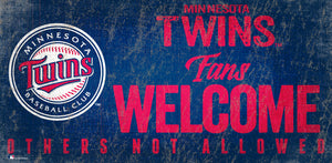 Minnesota Twins Fans Welcome Wood Sign