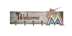 "Miami Marlins Coat Hanger - 24""x6"""