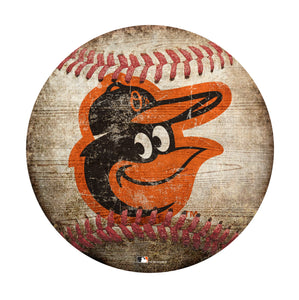 Baltimore Orioles Baseball Shaped Sign