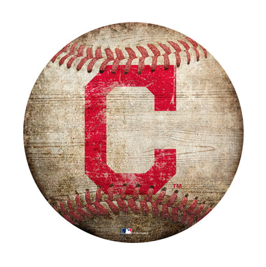 Cleveland Indians Baseball Shaped Sign