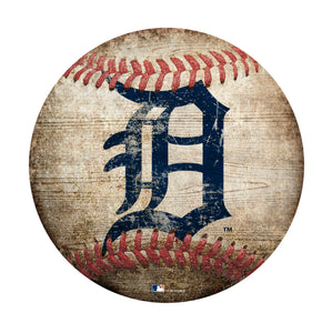 Detroit Tigers Baseball Shaped Sign
