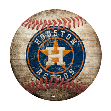 Houston Astros Baseball Shaped Sign