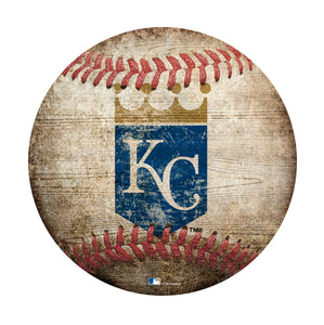 Kansas City Royals Baseball Shaped Sign