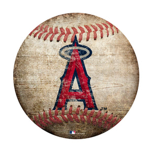 Los Angeles Angels Baseball Shaped Sign