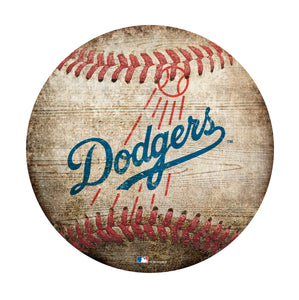 Los Angeles Dodgers Baseball Shaped Sign