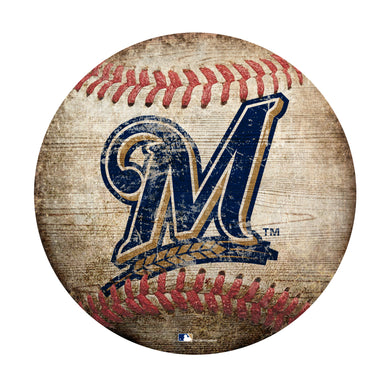 Milwaukee Brewers Baseball Shaped Sign