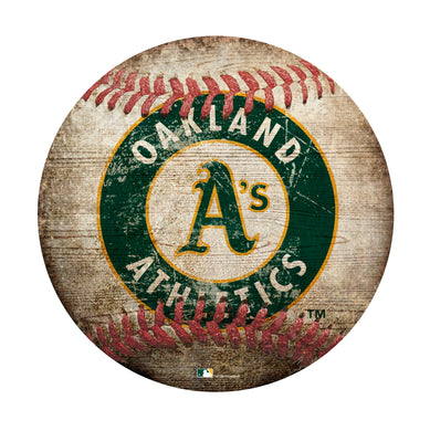 Oakland Athletics Baseball Shaped Sign