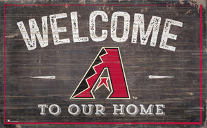 "Arizona Diamondbacks Welcome To Our Home Sign - 11""x19"""