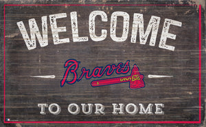 "Atlanta Braves Welcome To Our Home Sign - 11""x19"""