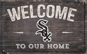 "Chicago White Sox Welcome To Our Home Sign - 11""x19"""