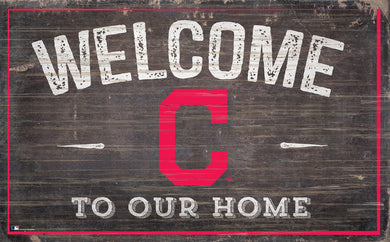 Cleveland Indians Welcome To Our Home Sign - 11