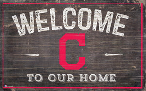 "Cleveland Indians Welcome To Our Home Sign - 11""x19"""