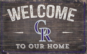 "Colorado Rockies Welcome To Our Home Sign - 11""x19"""