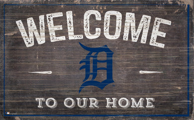 Detroit Tigers Welcome To Our Home Sign - 11