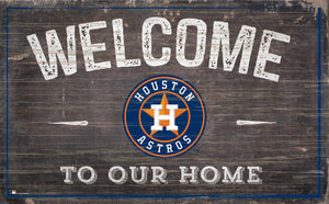 "Houston Astros Welcome To Our Home Sign - 11""x19"""