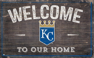 "Kansas City Royals Welcome To Our Home Sign - 11""x19"""