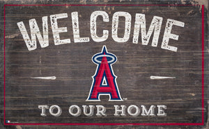 "Los Angeles Angels Welcome To Our Home Sign - 11""x19"""